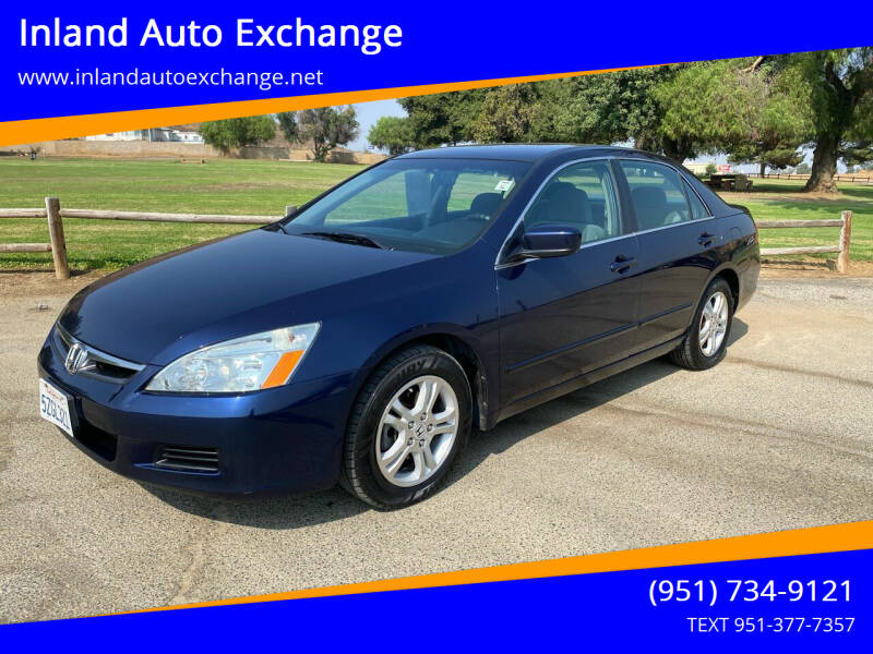 2007 Honda Accord for sale at Inland Auto Exchange in Norco CA