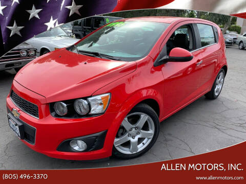 2015 Chevrolet Sonic for sale at Allen Motors, Inc. in Thousand Oaks CA
