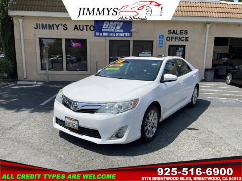 2013 Toyota Camry for sale at JIMMY'S AUTO WHOLESALE in Brentwood CA
