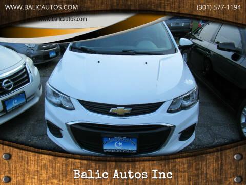 2017 Chevrolet Sonic for sale at Balic Autos Inc in Lanham MD
