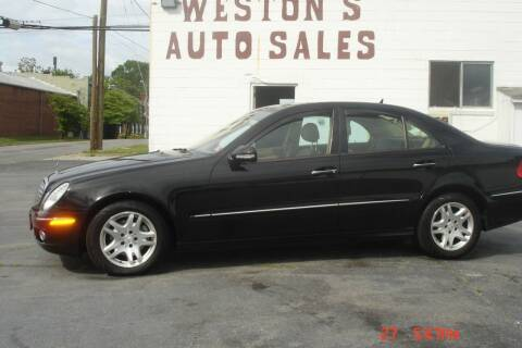 2007 Mercedes-Benz E-Class for sale at Weston's Auto Sales, Inc in Crewe VA