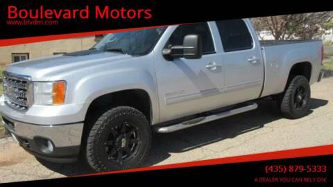 2013 GMC Sierra 2500HD for sale at Boulevard Motors in St George UT