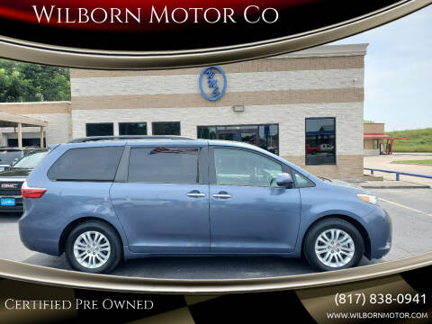 2015 Toyota Sienna for sale at Wilborn Motor Co in Fort Worth TX