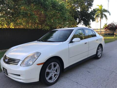 2003 Infiniti G35 for sale at LA Motors Miami in Miami FL