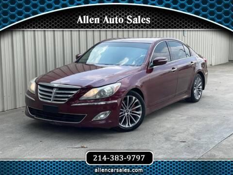 2013 Hyundai Genesis for sale at Allen Auto Sales in Dallas TX