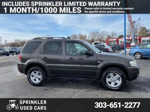 2007 Mercury Mariner Hybrid for sale at Sprinkler Used Cars in Longmont CO