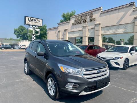 2018 Ford Escape for sale at JACK'S MOTOR COMPANY in Van Buren AR