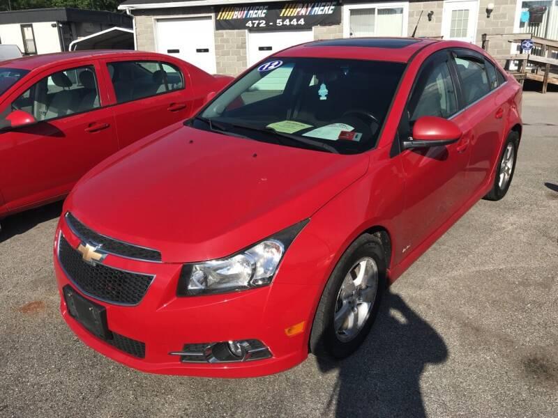 2012 Chevrolet Cruze for sale at RACEN AUTO SALES LLC in Buckhannon WV
