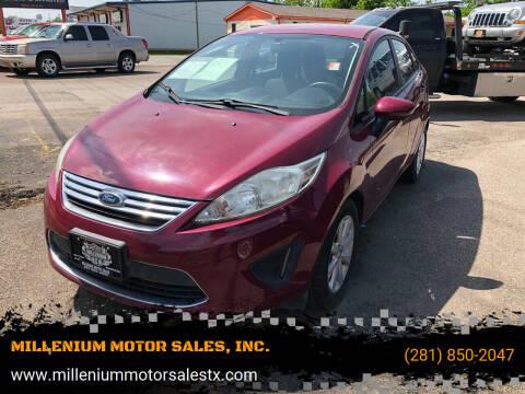 2011 Ford Fiesta for sale at MILLENIUM MOTOR SALES, INC. in Rosenberg TX