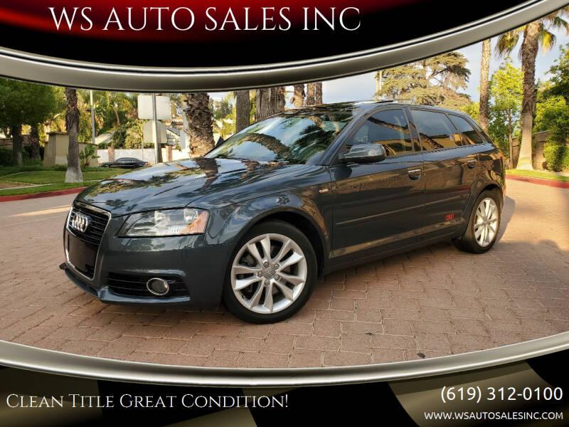 2012 Audi A3 for sale at WS AUTO SALES INC in El Cajon CA