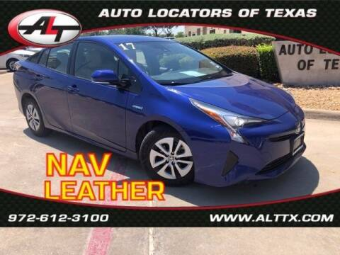 2017 Toyota Prius for sale at AUTO LOCATORS OF TEXAS in Plano TX