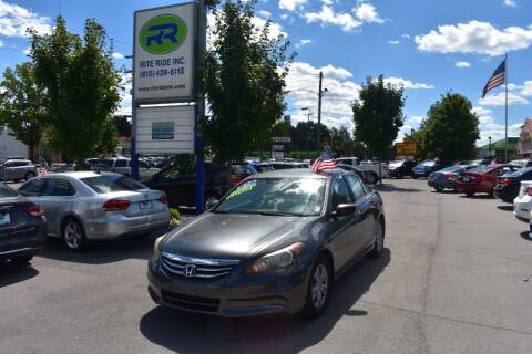 2012 Honda Accord for sale at Rite Ride Inc 2 in Shelbyville TN