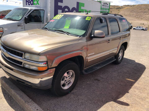 2003 Chevrolet Tahoe for sale at Hilltop Motors in Globe AZ