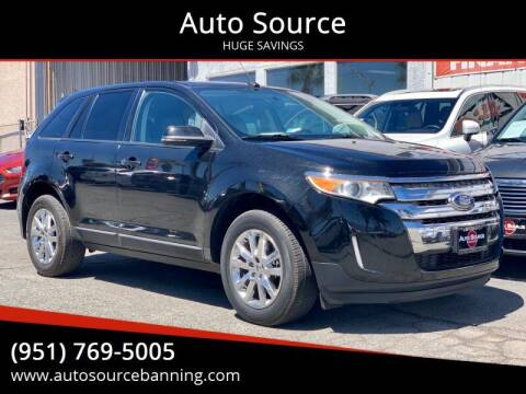 2013 Ford Edge for sale at Auto Source in Banning CA