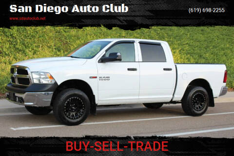 2016 RAM Ram Pickup 1500 for sale at San Diego Auto Club in Spring Valley CA