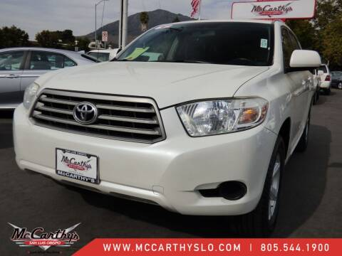 2010 Toyota Highlander for sale at McCarthy Wholesale in San Luis Obispo CA