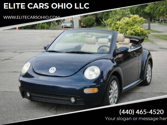 2005 Volkswagen New Beetle Convertible for sale at ELITE CARS OHIO LLC in Solon OH