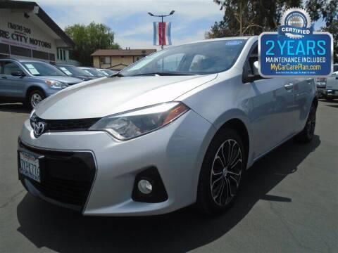 2015 Toyota Corolla for sale at Centre City Motors in Escondido CA