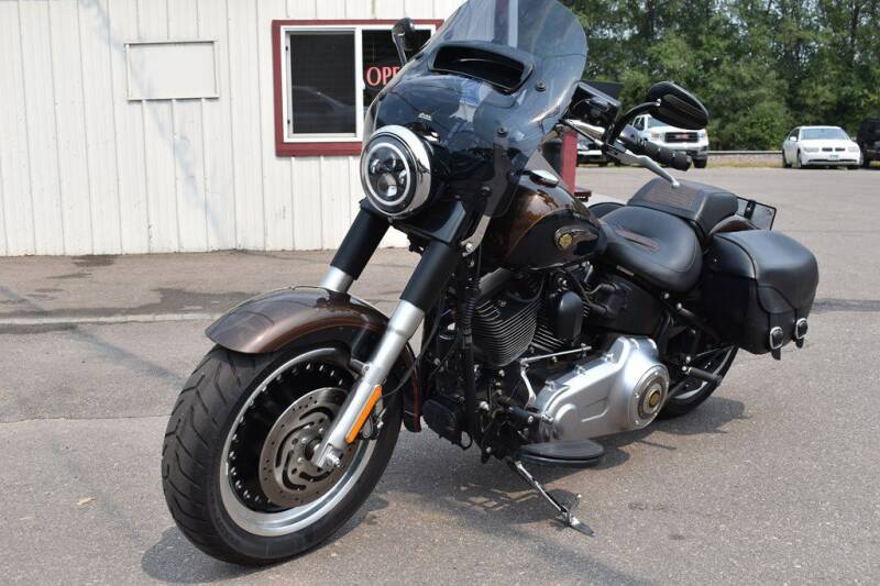 2013 HARLEY DAVIDSON FATBOY LO for sale at Dealswithwheels in Inver Grove Heights MN