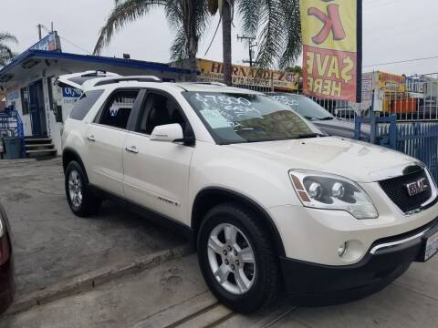 2008 GMC Acadia for sale at Olympic Motors in Los Angeles CA
