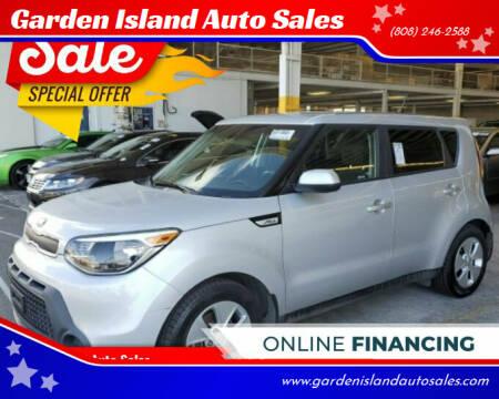 2016 Kia Soul for sale at Garden Island Auto Sales in Lihue HI