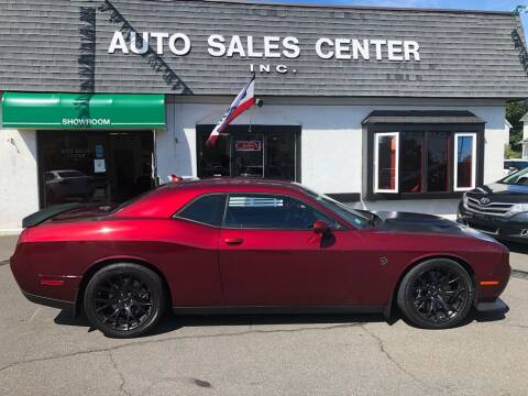 2018 Dodge Challenger for sale at Auto Sales Center Inc in Holyoke MA
