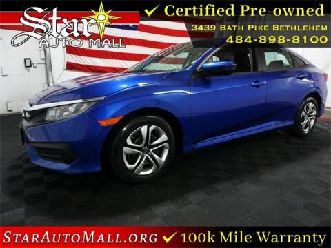 2018 Honda Civic for sale at STAR AUTO MALL 512 in Bethlehem PA