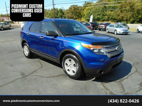 2013 Ford Explorer for sale at PIEDMONT CUSTOM CONVERSIONS USED CARS in Danville VA