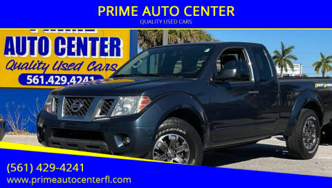2014 Nissan Frontier for sale at PRIME AUTO CENTER in Palm Springs FL