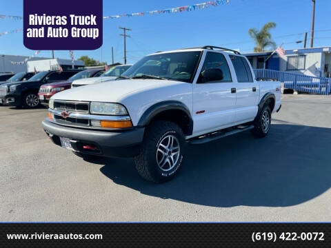 2003 Chevrolet S-10 for sale at Rivieras Truck and Auto Group in Chula Vista CA
