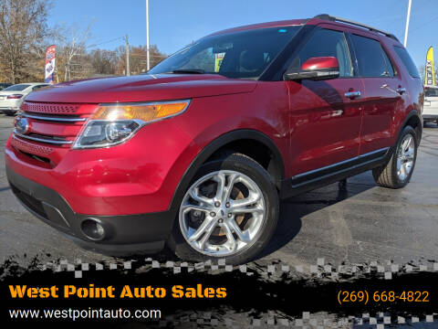 2014 Ford Explorer for sale at West Point Auto Sales in Mattawan MI
