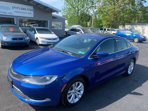 2015 Chrysler 200 for sale at Masic Motors, Inc. in Harrisburg PA