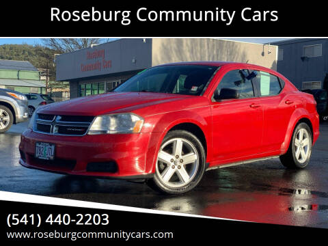 2013 Dodge Avenger for sale at Roseburg Community Cars in Roseburg OR