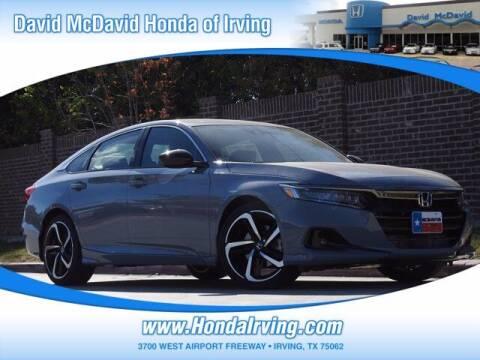 2021 Honda Accord for sale at DAVID McDAVID HONDA OF IRVING in Irving TX