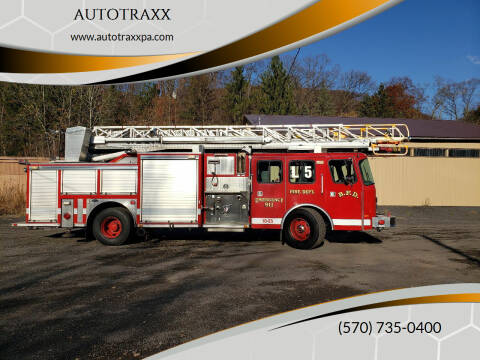 1998 EMERGENCY ONE Aerial LADDER PUMPER FIRE TRUC for sale at AUTOTRAXX in Nanticoke PA