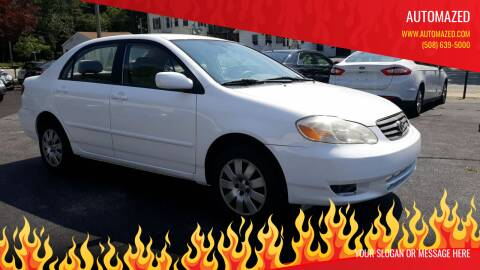 2004 Toyota Corolla for sale at Automazed in Attleboro MA