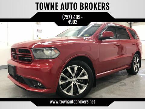 2014 Dodge Durango for sale at TOWNE AUTO BROKERS in Virginia Beach VA