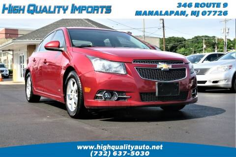 2012 Chevrolet Cruze for sale at High Quality Imports in Manalapan NJ