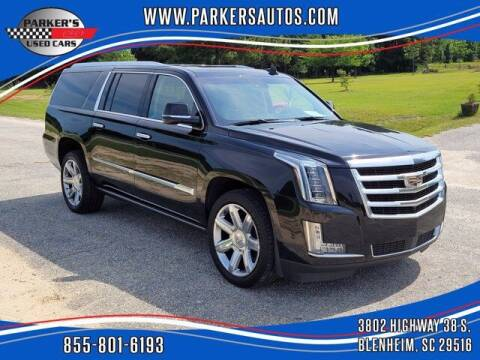 2018 Cadillac Escalade ESV for sale at Parker's Used Cars in Blenheim SC