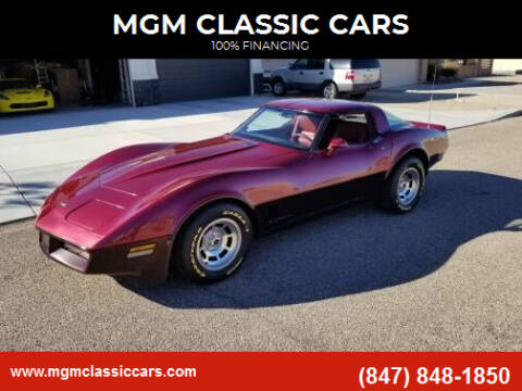 1981 Chevrolet Corvette for sale at MGM Classic Cars in Addison, IL