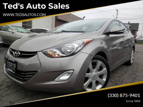 2011 Hyundai Elantra for sale at Ted's Auto Sales in Louisville OH