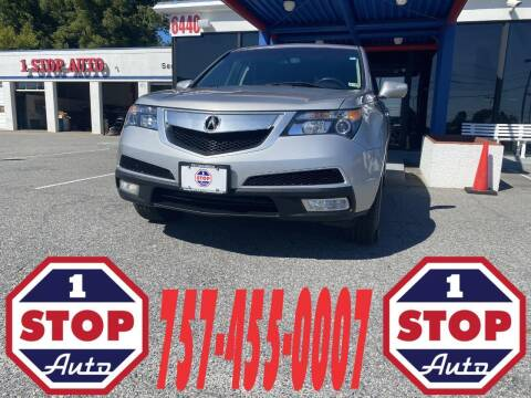 2013 Acura MDX for sale at 1 Stop Auto in Norfolk VA