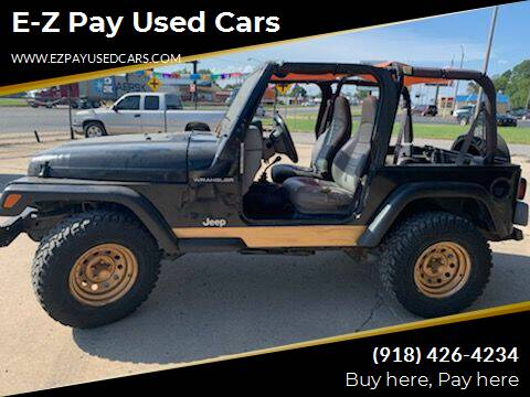1998 Jeep Wrangler for sale at E-Z Pay Used Cars in McAlester OK