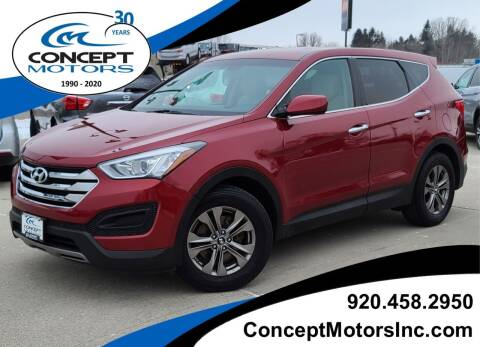 2013 Hyundai Santa Fe Sport for sale at CONCEPT MOTORS INC in Sheboygan WI