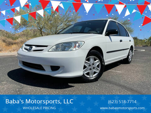 2005 Honda Civic for sale at Baba's Motorsports, LLC in Phoenix AZ