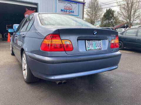 2003 BMW 3 Series for sale at M AND S CAR SALES LLC in Independence OR