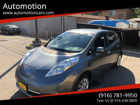 2015 Nissan LEAF for sale at Automotion in Roseville CA