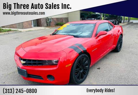 2012 Chevrolet Camaro for sale at Big Three Auto Sales Inc. in Detroit MI