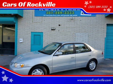 2001 Toyota Corolla for sale at Cars Of Rockville in Rockville MD