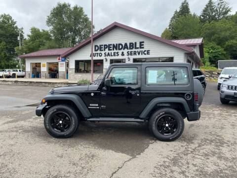 2016 Jeep Wrangler for sale at Dependable Auto Sales and Service in Binghamton NY